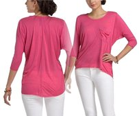 Anthropologie Pocket Top Pink