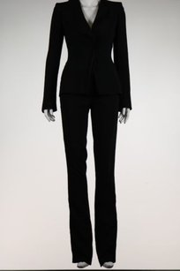 Antonio Berardi Antonio Berardi Womens Black Navy Pant Suit Med Blazer Trousers Career