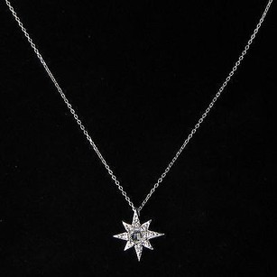 Anzie Anzie Aztec Starburst Necklace Pale Green Amethyst White Sapphire 925