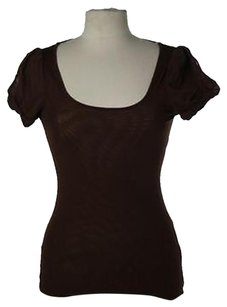 Arden B. Womens Knit Top Brown