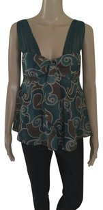 Arden B. Top Teal Green / Brown