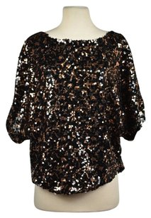 Ark & Co. Amp Co Women Black Bronze Top Multi-Color