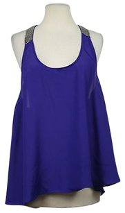 Ark & Co. Amp Co Womens Sleeveless Casual Shirt Top Purple
