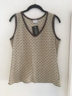 Armani Collezioni Tank Top Cream, Brown, Taupe