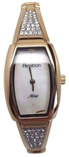 Armitron Armitron Now Womens Diamonds Watch Gold With Mop Dial