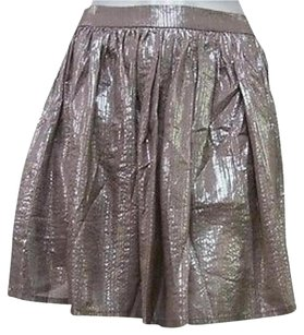 Aryn K Silver Skirt Taupe