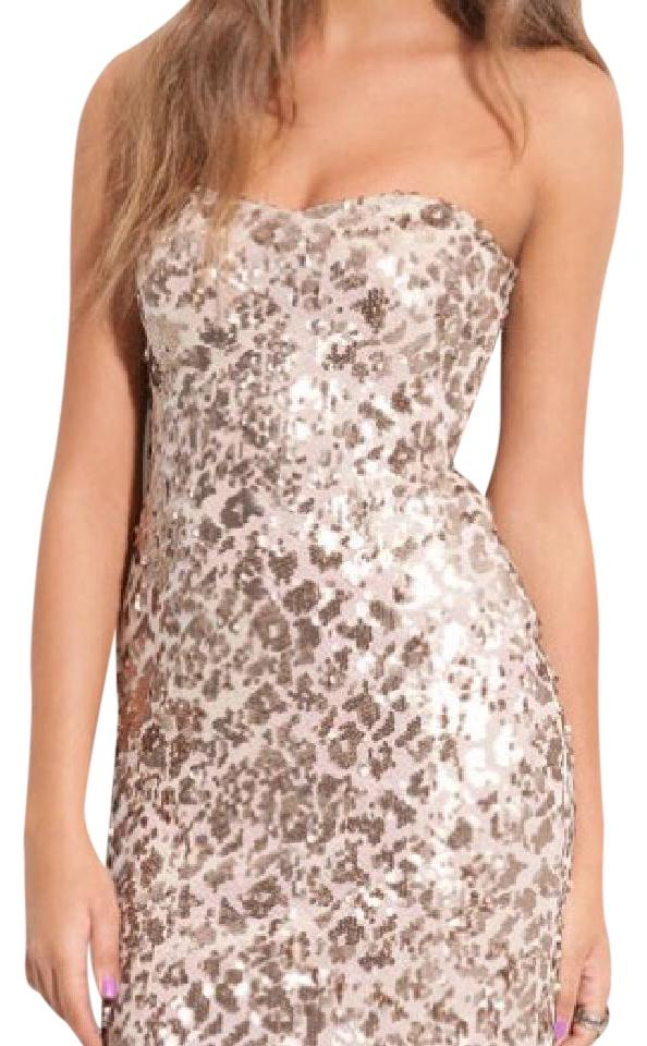 Short Strapless Sequined Dress by as U Wish