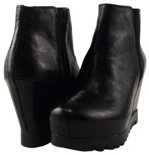 Ash Hello Leather Black Boots