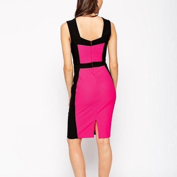 ASOS Black Pink Color Knee Length Formal Dress Size 2 (XS) - Tradesy