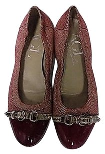 Attilio Giusti Leombruni Agl Block Heeled B3489 Red And Silver Flats