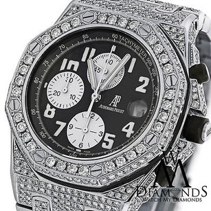 Audemars Piguet Diamonds Audemars Piguet Royal Oak Offshore Watch With Black Dial