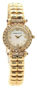 Austern & Paul { RARE }!!! AUSTERN & PAUL 14K Gold Diamond, Ruby and MOP Ladies Hand made Watch