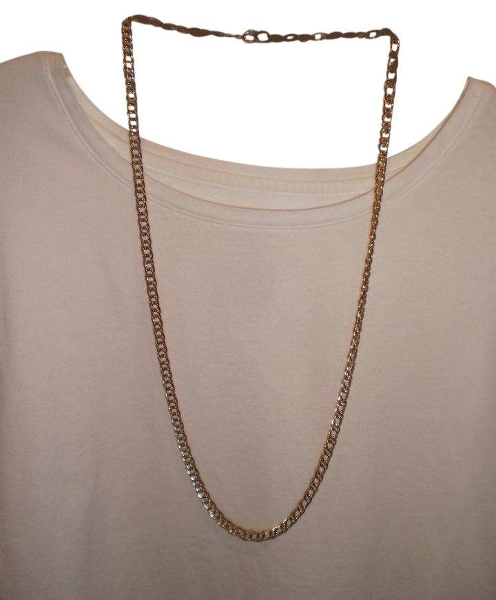 Avon Gold Signed Plated Double Link Chain Necklace Tradesy