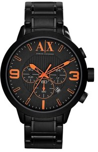 A|X Armani Exchange Armani Exchange Atlc Chronograph Black Dial Black Ion-plated Mens Watch AX1351