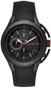 A|X Armani Exchange Armani Exchange Black Silicone Chronograph Mens Watch Ax1401