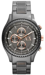 A|X Armani Exchange A|X Armani Exchange Men's Chronograph Gunmetal Ion-Plated Stainless Steel Bracelet Watch