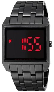 A|X Armani Exchange A|X Armani Exchange Men's Digital Black Ion-Plated Stainless Steel Bracelet Watch 40x33mm AX2221