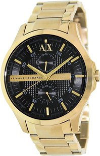 A|X Armani Exchange AX2122 Armani Exchange Gold IonPlated Stainless Steel Black Dial Men's Watch