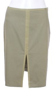 A|X Armani Exchange Cotton Khaki Goss Grain Skirt Olive