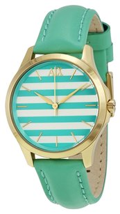 A|X Armani Exchange Green and White Striped Dial Ladies Watch