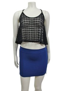 A|X Armani Exchange Ax Cobalt Pencil Mini Skirt Blue