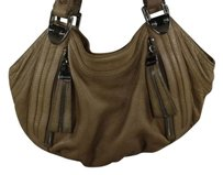 B. Makowsky B Womens Satchel in Beige