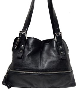 B. Makowsky Pebbled Leather Shoulder Bag