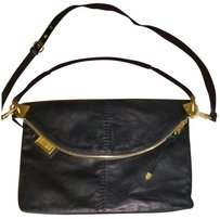 Badgley Mischka Black with gold matted hardware Messenger Bag
