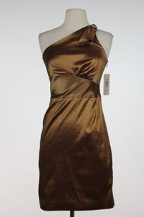 Badgley Mischka Womens W Tags Metallic Formal Sheath Dress