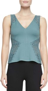 Bailey 44 Knit Lace Inset Top Balsam Green
