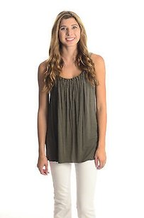 Bailey 44 Taupe Jersey Pleated Tunic