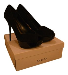 Bakers Leather And Suede Unique Black Pumps
