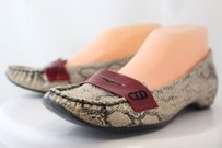 Bakers Ashur Womens Animal Print Slip On Casual Wtw Beige Flats