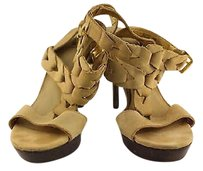 Bakers Ritz Womens Heels Man Made Beige Pumps