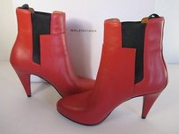 Balenciaga Leather Ankle RED Boots
