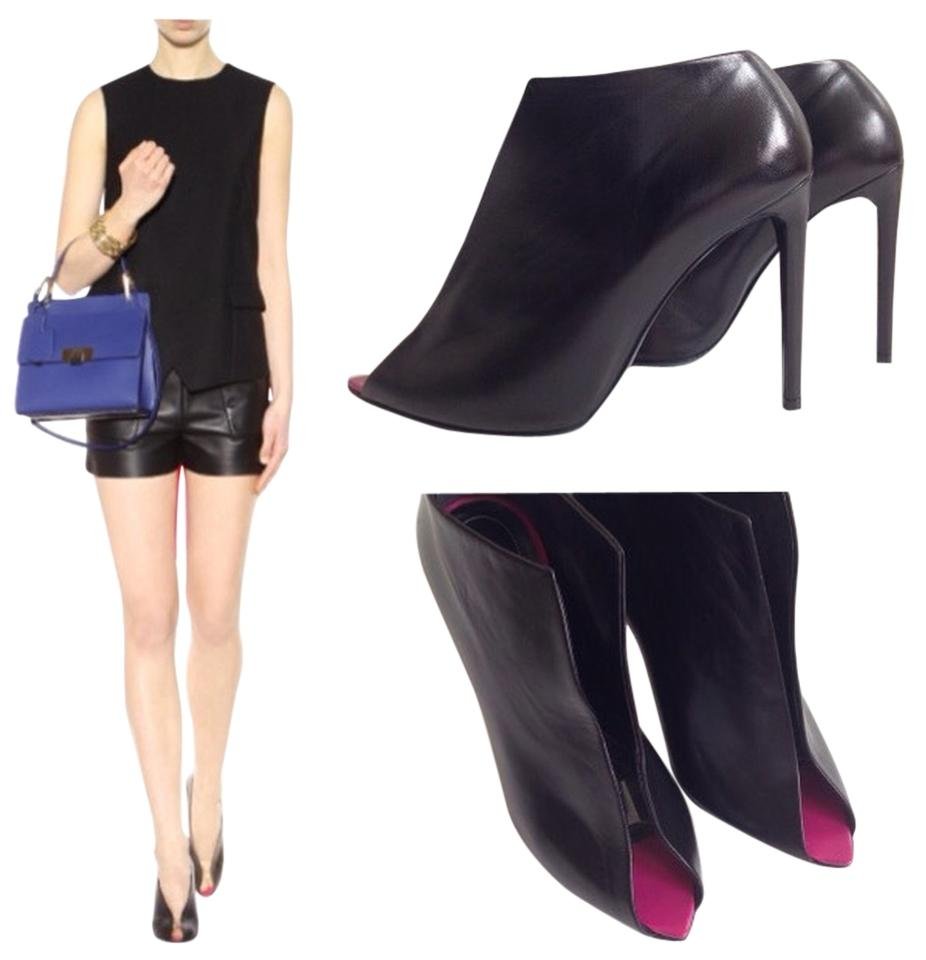 outlet reliable Balenciaga Woven Peep-Toe Booties in China online vVLbsG