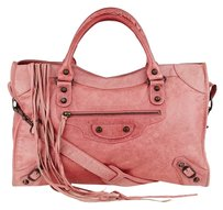 Balenciaga . Framboise Lambskin Leather Motorcycle Jit14247695y Satchel in pink