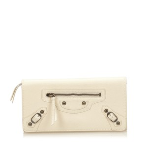 Balenciaga Ivory,leather,long Wallets,others,6abgco008