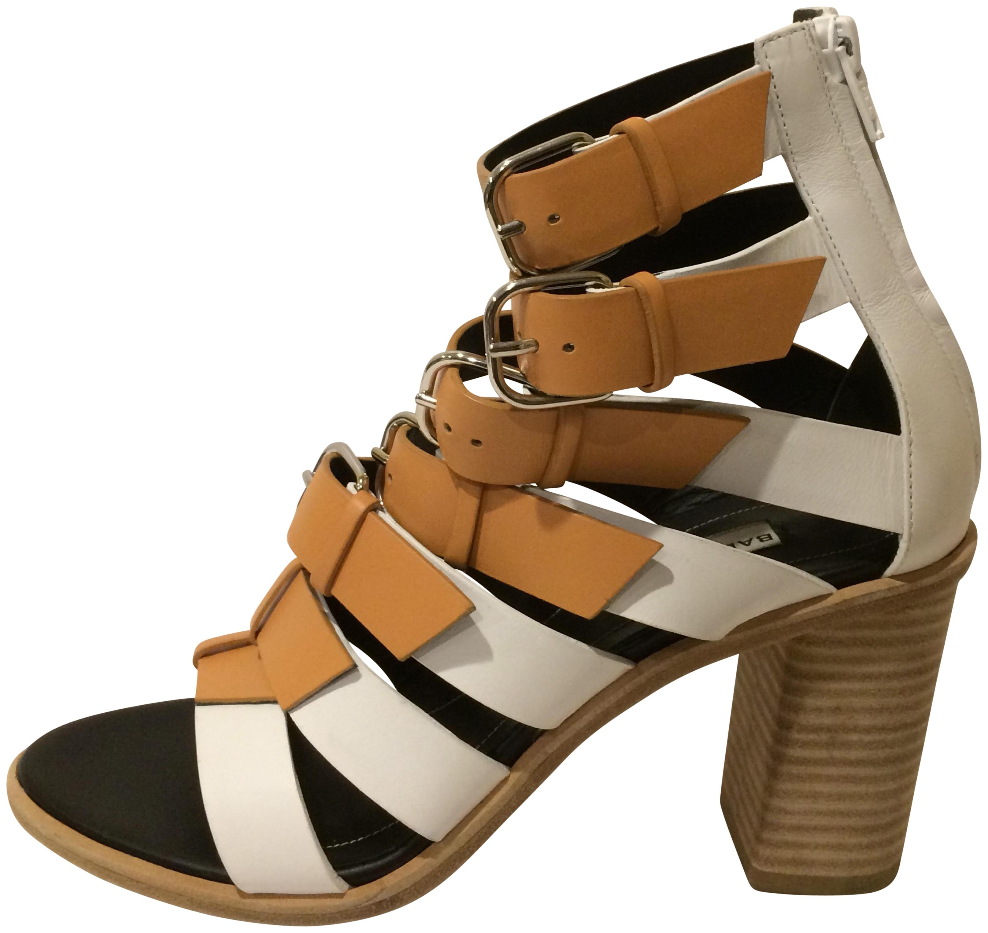 a10c4c2be Balenciaga New Buckled Ankle Strap Cage Leather Sandals Sandals Sandals Size  EU 36.5 (Approx. US 6.5) Regular (M