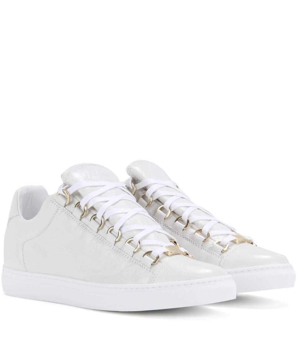 Balenciaga White Unisex Low Top Arena Sneakers (Womens 40c) Sneakers Size EU 40 (Approx. US 10) Wide (C, D)