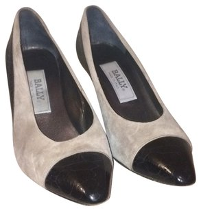 Bally Black / Gray Pumps