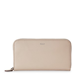 Bally Nude Saffiano Leather Zip-Around Wal