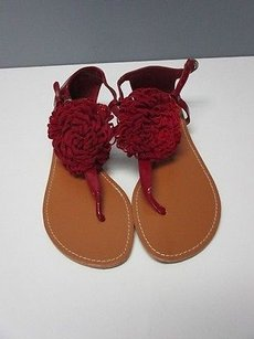 Bamboo Patent Leather Red Sandals