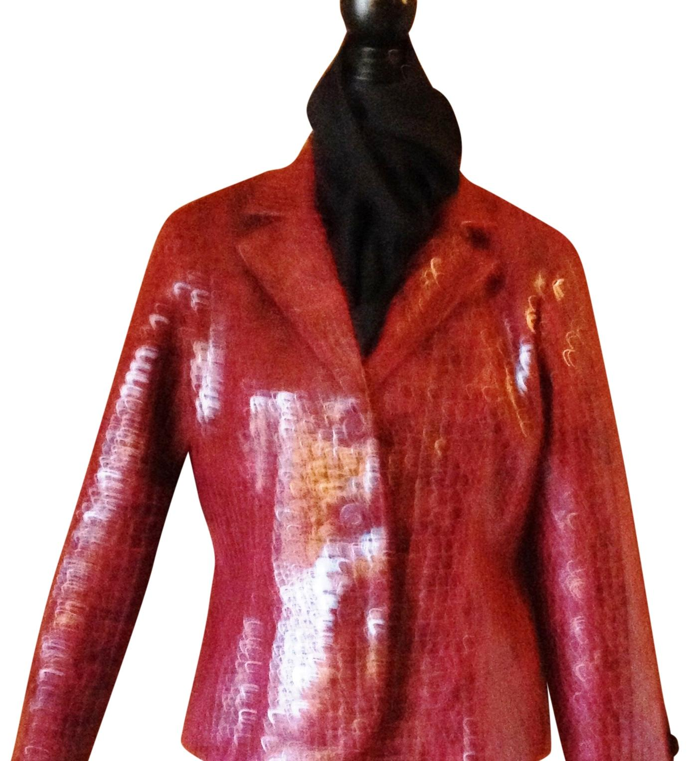 Bamboo Trading Company Oxbloodred/Black Osblood Red/Textured Blazer