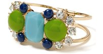 Banana Republic Banana Republic Cabochon Hinged Cuff Blue Green