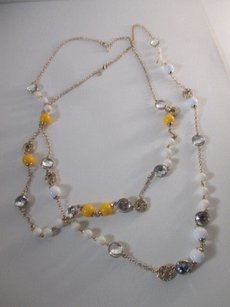 Banana Republic Banana Republic Crystal Bauble Necklace Yellow White Set Of Pieces