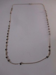 Banana Republic Banana Republic Gold Link Bronze Stone Dainty Layering Necklace
