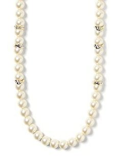 Banana Republic Banana Republic Golden Pearl Layer Necklace In Stores Now