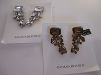 Banana Republic Banana Republic Regalia Cluster Earrings Clear Bronze Set Of