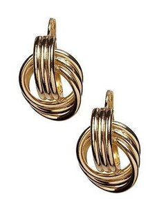 Banana Republic Banana Republic Silver-tone Knotted Earrings
